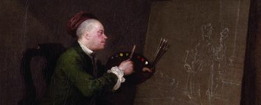 Zelfportret door William Hogarth